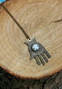 Image of Ornamental Things Hand  & Stars Necklace