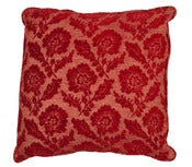 Image of Scalamandre Collection- Grandfield Red Pillow