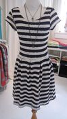 Image of Navy and white striped dress