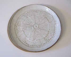 Image of Doily Dessert Plate