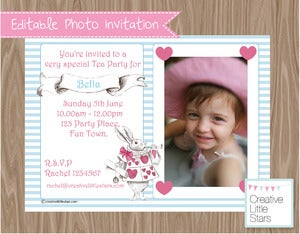 Image of DIY Photo Invite - Alice In Wonderland