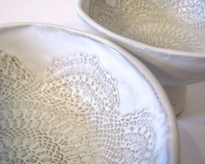 Image of Doily Pedestal Bowl