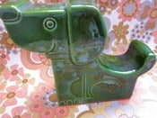 Image of Vintage Green Dog Money Box