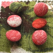 Image of Barkcloth Buttons x6 - Darcey