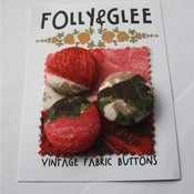 Image of 3 Large Barkcloth Buttons - Darcey