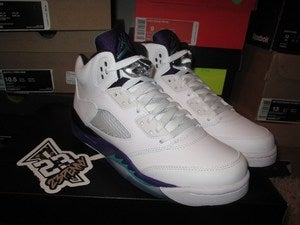 "Image of Air Jordan V (5) Retro ""Grape"" 2013 GS"