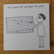 Image of 'The Panel' blank greeting card