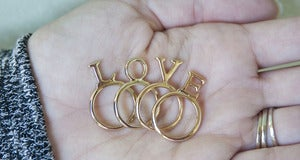 Image of LOVE Ring Set