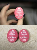 "Image of 7/8"" Keep Calm & Carry On Plugs!"