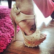 Image of Spike and Cork Heels 