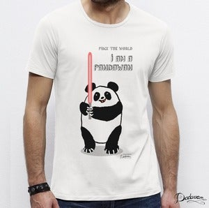 Image of T-shirt homme blanc PANDAWAN
