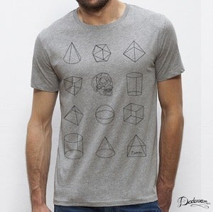 Image of T-shirt homme gris Geometric shapes