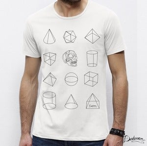 Image of T-shirt homme blanc Geometric shapes