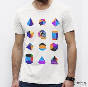 Image of T-shirt homme blanc Geometric shapes colors