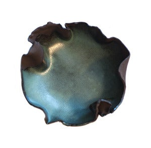 Image of Smoky Ruffled Bowl