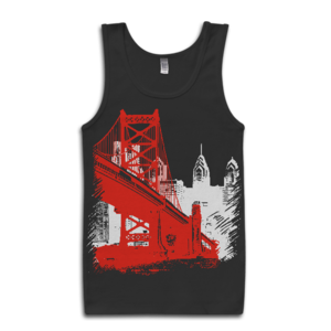 Image of Ben Franklin Bridge Tank-Top (Black)