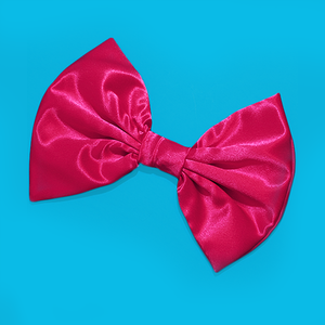 Image of HUGE Hot Pink Satin Hair Bow