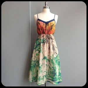 Image of Tahiti Water Print Sundress