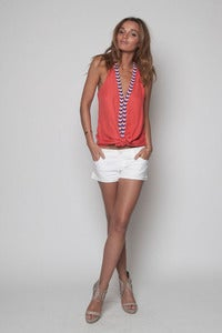 Image of Coral Beaded Vest Top