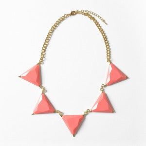 Image of Coral Triangle Bib Necklace