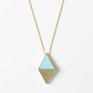 Image of Teal Diamond Pendant