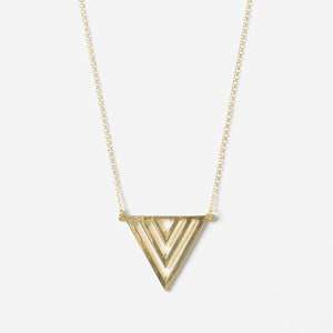 Image of Gold Triangle Pendant Necklace