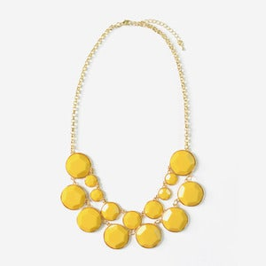 Image of Yellow Jewel Bib Necklace