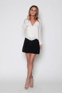 Image of Cream Ruffle Blouse
