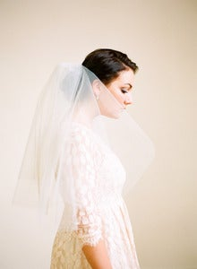 Image of Double Layer Elbow-Length Veil by Fine &amp; Fleurie
