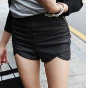 Image of Killer High Waist Leather Shorts