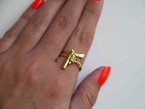 Image of Gold Tone Gun Ring