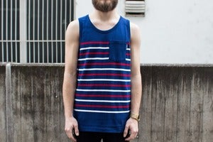 Image of Undefeated - Stripe Tank (Navy)