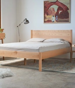 Image of Red Oak Queen Bed Frame