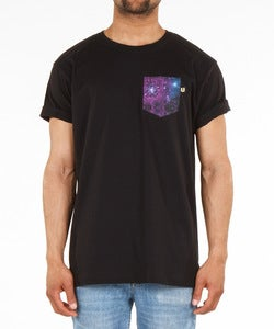 Image of THE BLACK GALAXY POCKET TEE