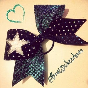 Image of Teal and Black Star Bow