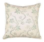 Image of Scalamandre Collection-Dunden Lodge Turquoise Pillow
