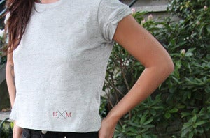 Image of Dailymovement Spring/Summer '13 Women's Speckled Cropped Top [Grey]