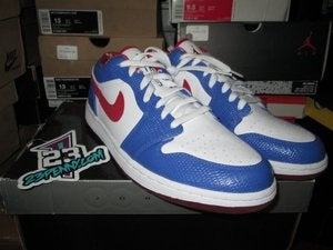 Image of Air Jordan I (1) Retro Low &quot;Varsity Red/Varsity Blue&quot;