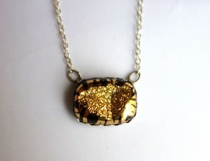 Image of Tiger Drusy Pendant