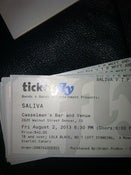 Image of Saliva VIP ticket!