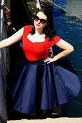 Image of Navy Blue Circle Skirts 