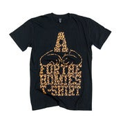 Image of FOR THE HOMIES - ANIMAL PRINT LOGO TEE (BLACK)
