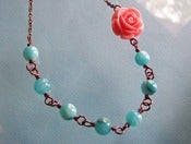Image of Springtime Rose Necklace