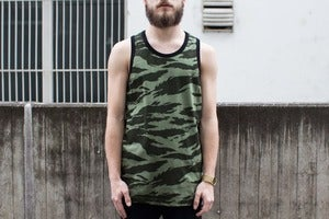 Image of Stussy - Jungle Tank Top (olive)