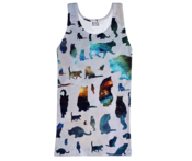 Image of Galaxy cats tank top