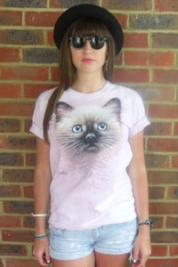 Image of Kitten on Pink Tee