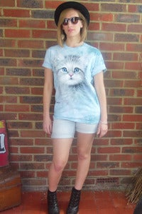 Image of Blue Eyed Kitten (Cat) Tee