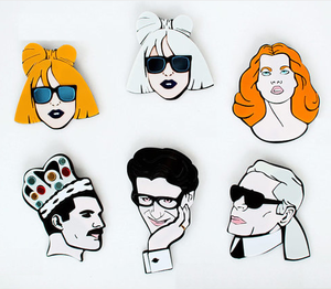 Image of Fashion people brooch