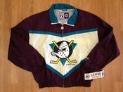 Image of Vintage Deadtock Anaheim Ducks Logo 7 Windbreaker Big Logo
