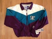 Image of Vintage Deadtock Anaheim Ducks Logo 7 Windbreaker Jacket